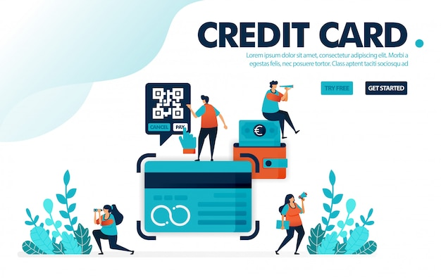 Credit card, people apply for credit card loan at bank.