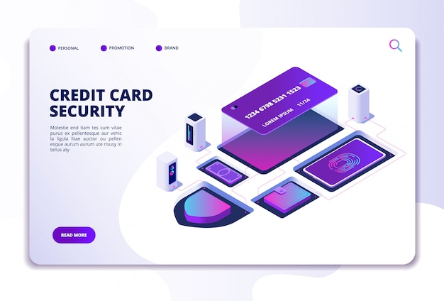 Credit card security website template
