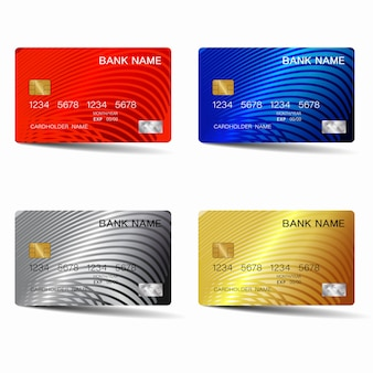 Credit card set design.