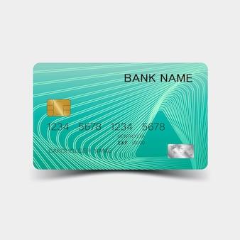 Шаблон кредитной карты красочный редактируемый векторный дизайн иллюстрация eps10