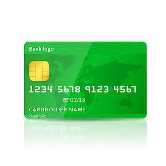 Credit card template illustration