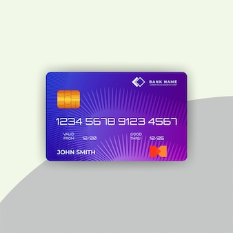 Credit card template with abstract background