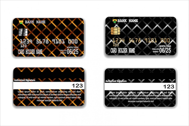 Credit card template with abstract texture