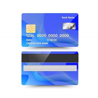 Credit card two sides with abstract design.
