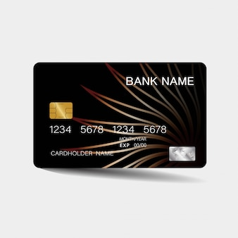 Credit card with brown elements
