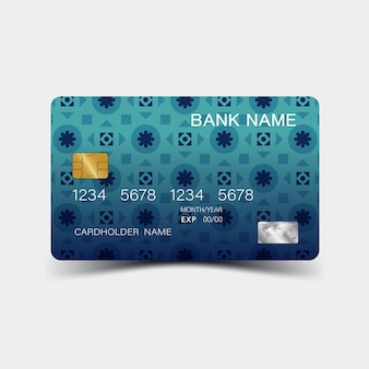 Credit card. with inspiration from the abstract.