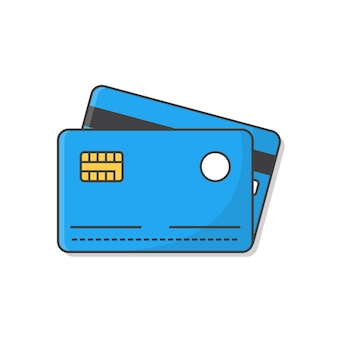 Credit cards icon illustration isolated