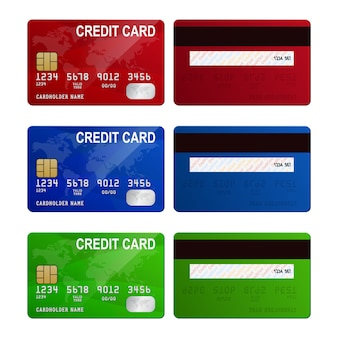 Credit cards, isolated,