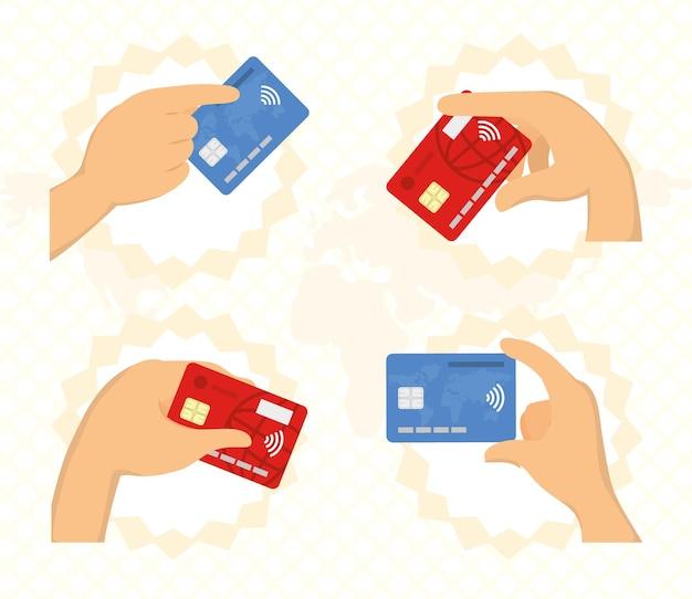 Nfc 기술이 적용된 신용 카드
