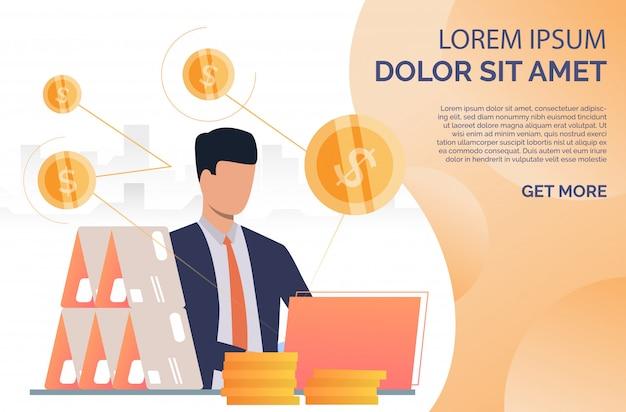 Pagina web della casa della carta della costruzione del gestore di credito