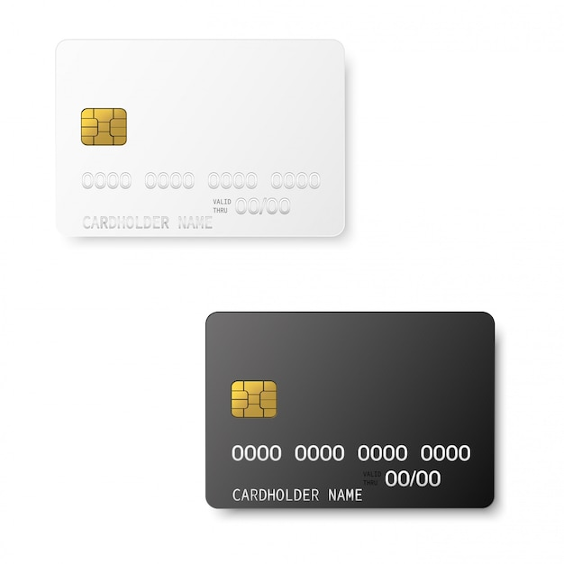 Credit plastic card with emv chip.