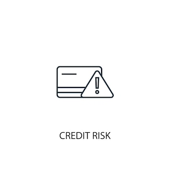 Credit risk concept line icon. simple element illustration. credit risk concept outline symbol design. can be used for web and mobile ui/ux