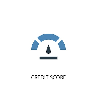 Credit score concept 2 colored icon. simple blue element illustration. credit score concept symbol design. can be used for web and mobile ui/ux
