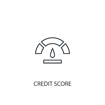Credit score concept line icon. simple element illustration. credit score concept outline symbol design. can be used for web and mobile ui/ux