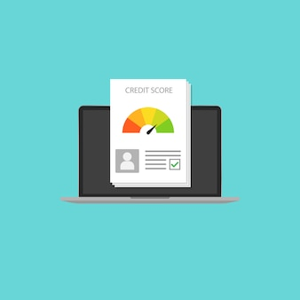 Кредитный рейтинг в стиле ноутбука