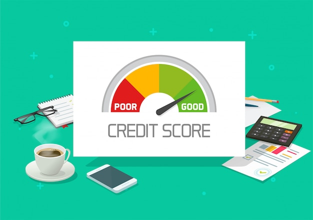 Credit score rating financial history report analysis check