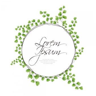 Creeping fern wreath letter frame, wreath