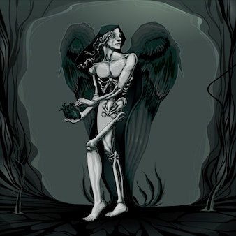 Рождение зла векторная иллюстрация