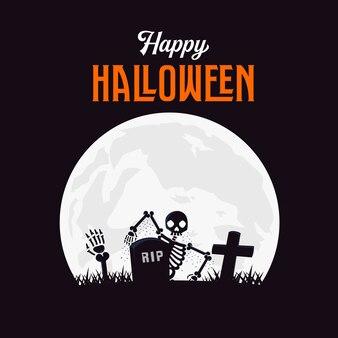 Creepy halloween background