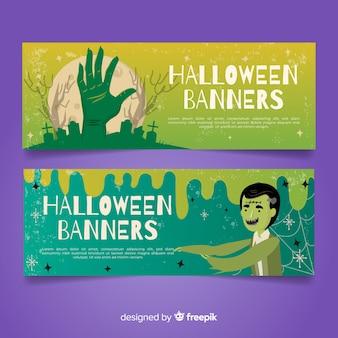 Creepy halloween banners