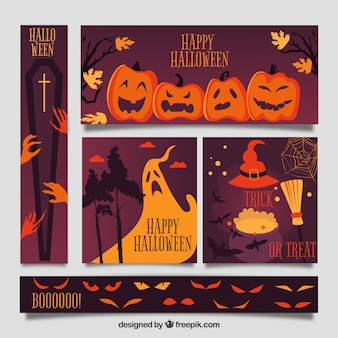 Creepy halloween web banner