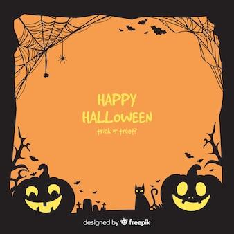 Cornice di halloween disegnata a mano raccapricciante