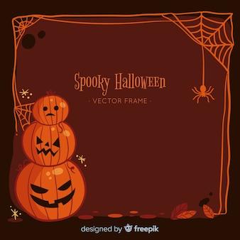 Creepy hand drawn halloween frame
