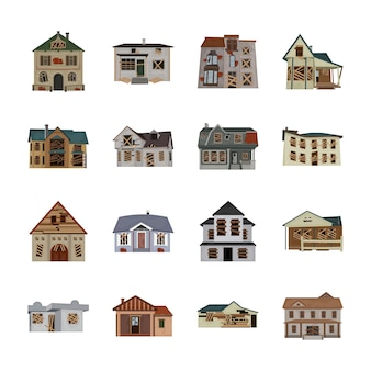Creepy house icons