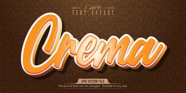 Crema style editable text effect