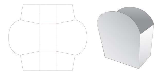 Crepe holder die cut template