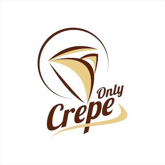 크레이프 로고 디자인 음식 일러스트 라벨 템플릿