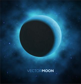 Crescent moon.  illustration.