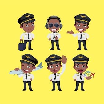 Командир экипажа в разных позах