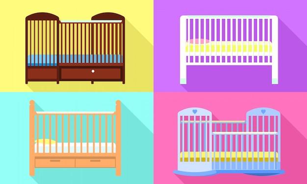 Crib set, flat style