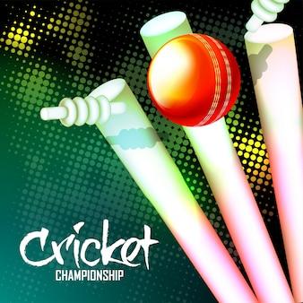 Cricket background.