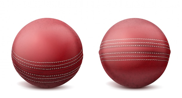 Cricket balls set isolated illustration