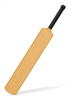 Cricket bat vector illustration