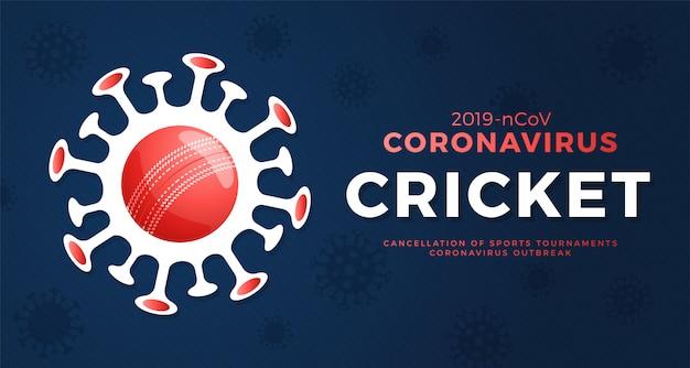 Крикет осторожно, коронавирус. остановить вспышку. опасность коронавируса и риска для здоровья населения и вспышки гриппа. отмена концепции спортивных мероприятий и матчей