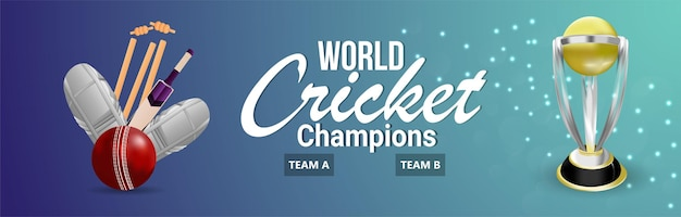 Cricket championship background or banner