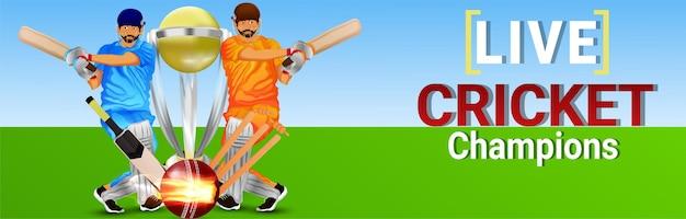 Cricket championship background with illustration