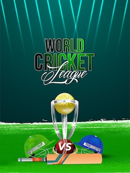 Cricket championship background with vector illustration