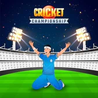 Cricket championship background.