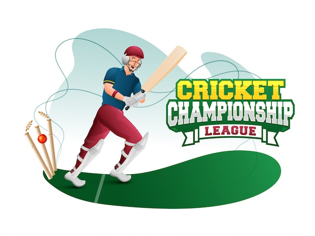 Cricket championship concept.