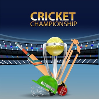 Cricket championship match background