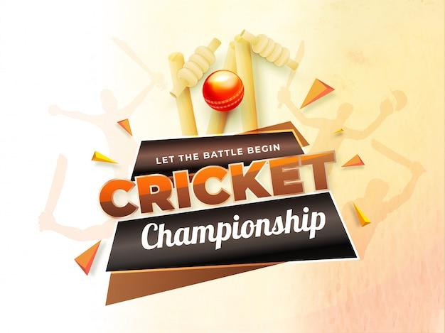 Cricket championship poster or banner design