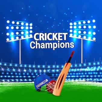 Cricket championship stadium background