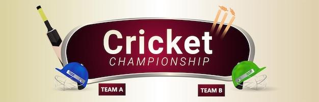 Матч чемпионата по крикету с участием игрока в крикет и оборудования