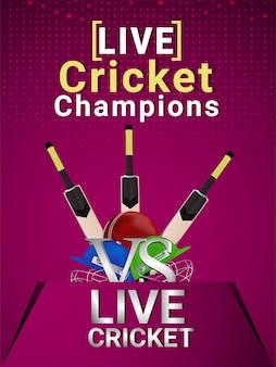 Cricket championship tournament background