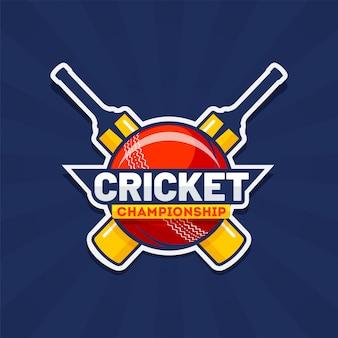 Cricket championship текст с турниром по крикету в стиле стикера