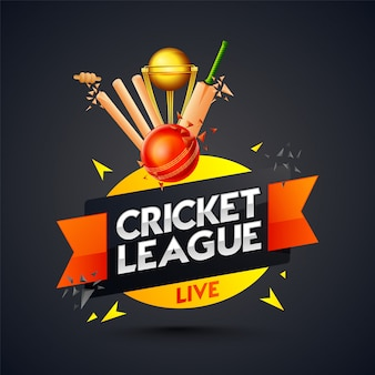 Cricket league template or poster design